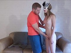 Young girl in mask fucked hard