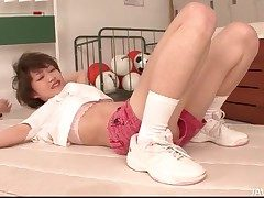Ductile Japanese teen anfractuosities their way body solo